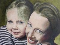 Carien Kleibeuker met dochter