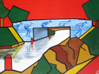 Elfstedenbrug abstract