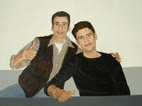 Jeroen & Rutger, 2008 (acryl, 70 x 50 cm)