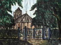 Kerk Oenkerk, 1975 (waterverf, 30 x 20 cm)