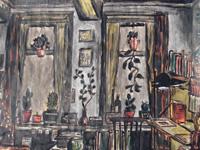 Studentenkamer EW, 1973 (waterverf, 30 x 20 cm)