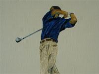 Tiger Woods, 2005 (olie, 30 x 40 cm)