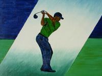 Tiger Woods, 2005 (olie, 50 x 60 cm)